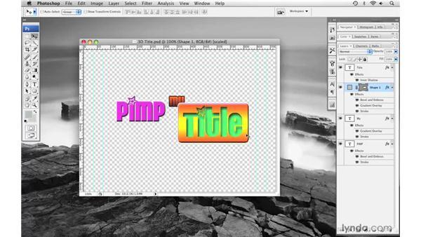 Creating a 3D title pt. 2: Final Cut Pro 6 with Photoshop CS3 Integration