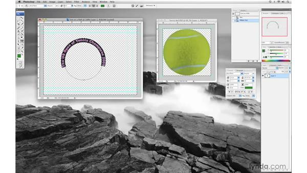 Creating text on a curved path: Final Cut Pro 6 with Photoshop CS3 Integration