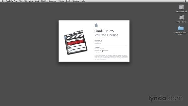 Initial setup: Final Cut Studio Overview