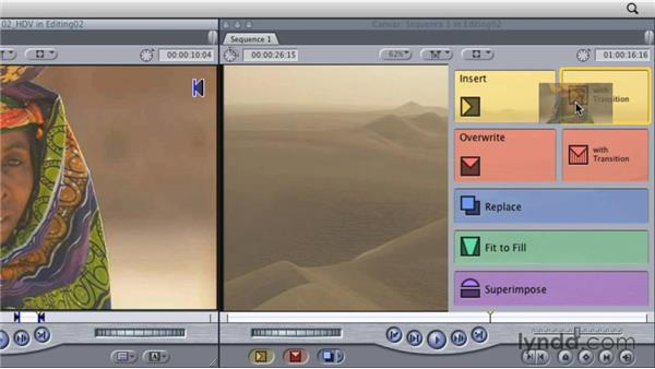 Editing using the Viewer and Canvas: Final Cut Studio Overview