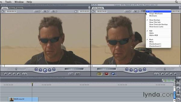 Superimposing video layers: Final Cut Studio Overview