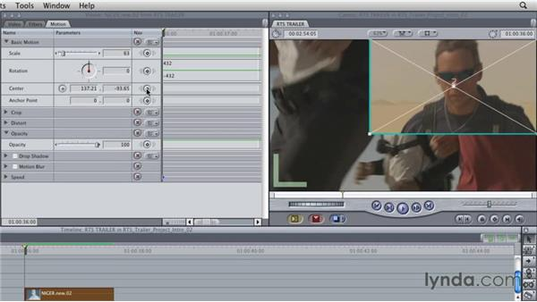 Working with the Motion tab: Final Cut Studio Overview