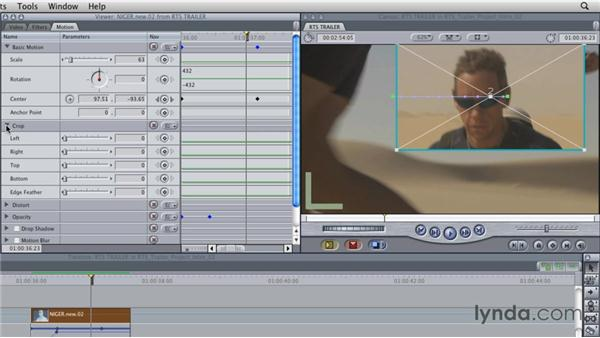 Cropping video: Final Cut Studio Overview