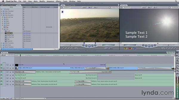Adding basic titles: Final Cut Studio Overview