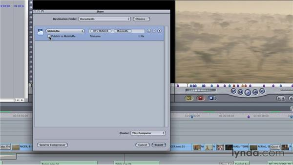 Exporting via the Share menu: Final Cut Studio Overview