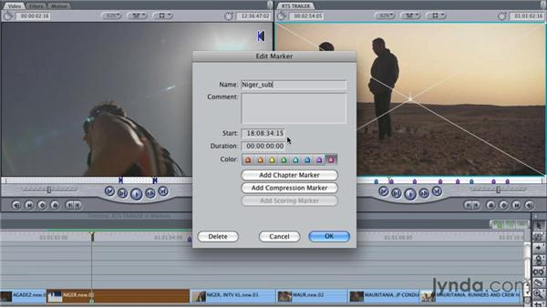 Editing markers: Final Cut Studio Overview