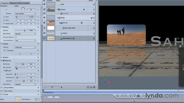 Creating shadows, reflections, and specular highlights: Final Cut Studio Overview