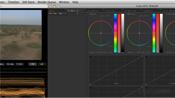 Performing primary color corrections: Final Cut Studio Overview