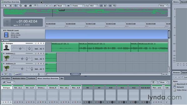 Exploring the Soundtrack Pro interface: Final Cut Studio Overview