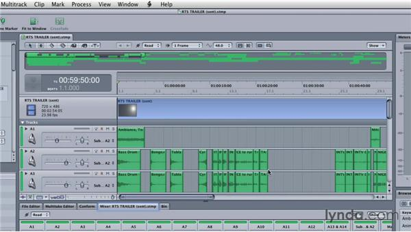Sending an entire mix for a final sweetening: Final Cut Studio Overview
