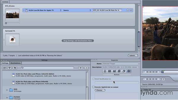 Exploring the Compressor interface: Final Cut Studio Overview