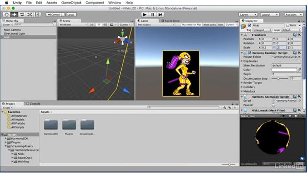 Import to Unity: Harmony to Unity: Animate 2D Characters