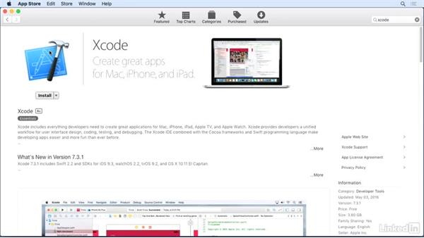 Install Xcode and the iOS SDK: iOS 10 App Development Essentials 1: Create Your First App