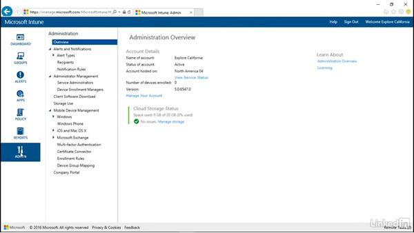 Configuring the company portal