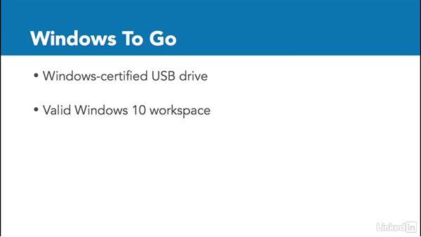 Configure Windows To Go: Windows 10: Intune Device Management