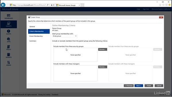 Manage Intune groups: Windows 10: Intune Device Management