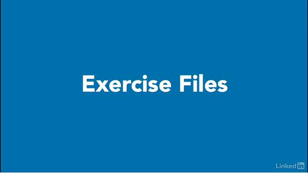 Downloading exercise files