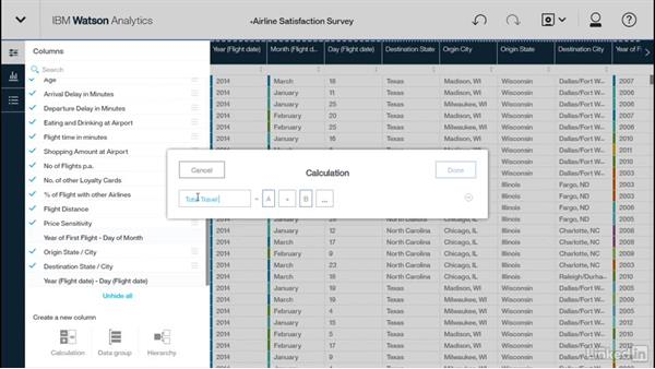 Creating calculations, hierarchies, and groups: Watson Analytics Fundamentals