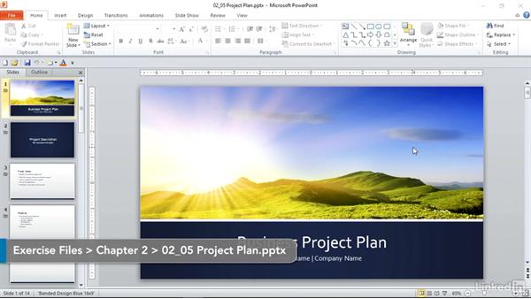 challenge manage the powerpoint environment