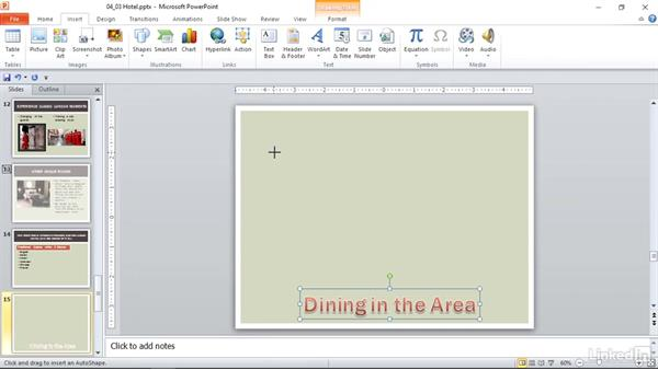 Modify WordArt and shapes: PowerPoint 2010: Prepare for the Microsoft Office Specialist Certification Exam (77-883)