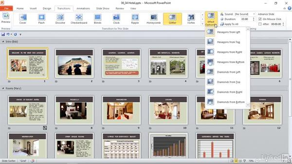 Apply and modify transitions between slides: PowerPoint 2010: Prepare for the Microsoft Office Specialist Certification Exam (77-883)