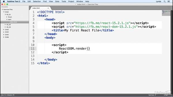 React.js syntax: Learn React.js: The Basics