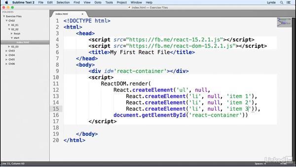 Introducing JSX: Learn React.js: The Basics