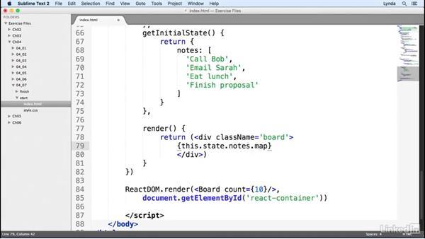 Adding child elements: Learn React.js: The Basics