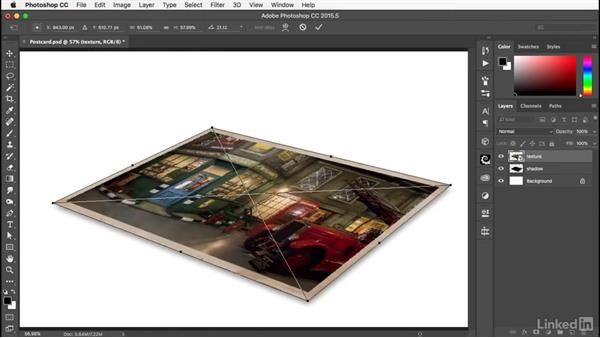 Adding shadow and curls: Photoshop: Smart Objects
