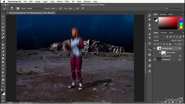 Applying the filters: Photoshop: Smart Objects