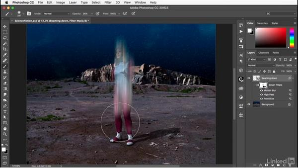 Adjusting the effects: Photoshop: Smart Objects
