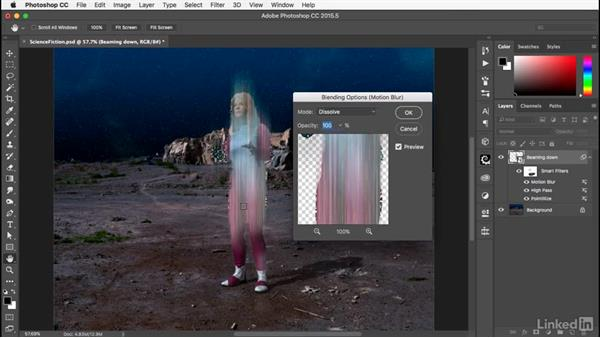 Modifying the filters' appearance: Photoshop: Smart Objects
