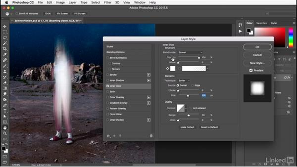 Adding a Layer Style: Photoshop: Smart Objects