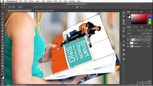 Distorting and blurring: Photoshop: Smart Objects