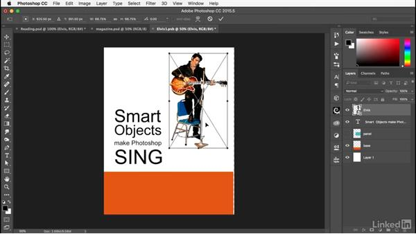 Editing the cover: Photoshop: Smart Objects