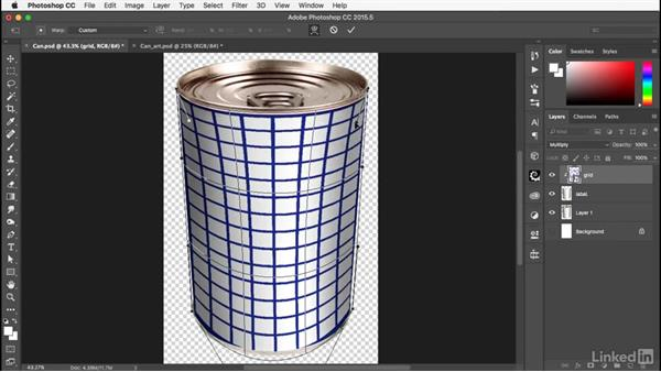 Creating the label: Photoshop: Smart Objects