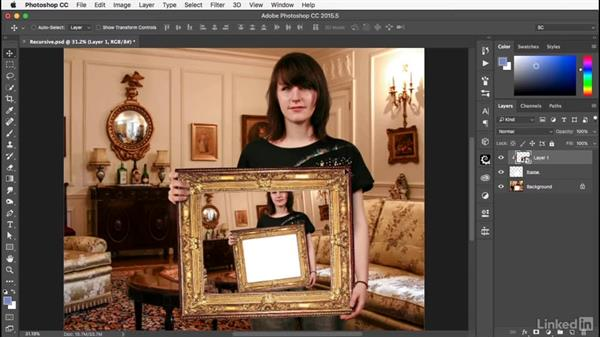 Creating recursive images: Photoshop: Smart Objects