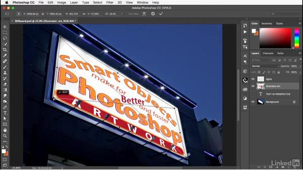 Working with Illustrator files: Photoshop: Smart Objects