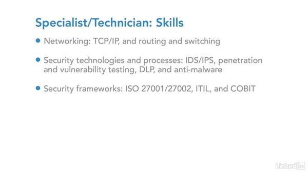 IT security career: Specialist/technician: IT Security Career Paths and Certifications