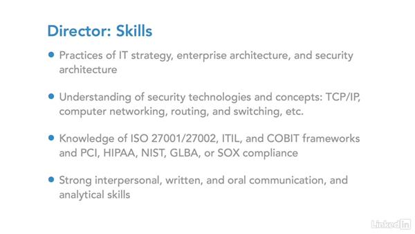 IT security career:  Director: IT Security Career Paths and Certifications