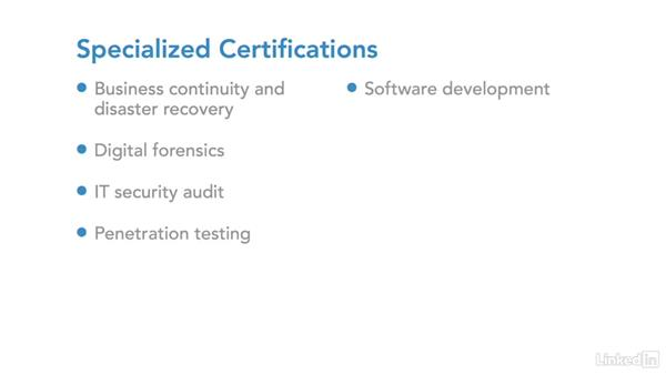 Choose a security certification: IT Security Career Paths and Certifications