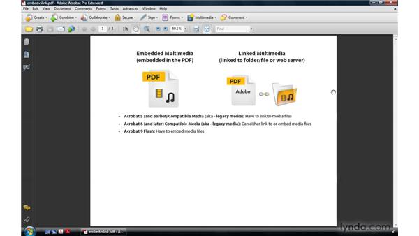 Embedded vs. linked multimedia: Acrobat 9 Pro: Creating Multimedia Projects