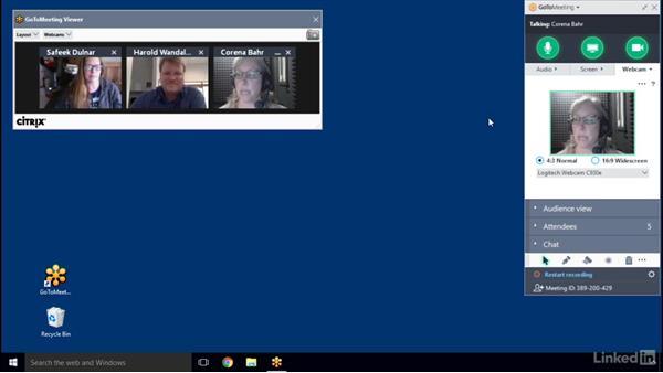 Manage webcam: GoToMeeting 2016 Essential Training