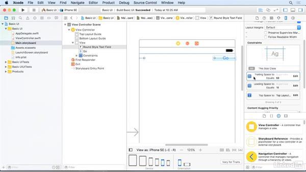Pin an object to its nearest neighbor: iOS 10 App Development Essentials 2: Design a User Interface