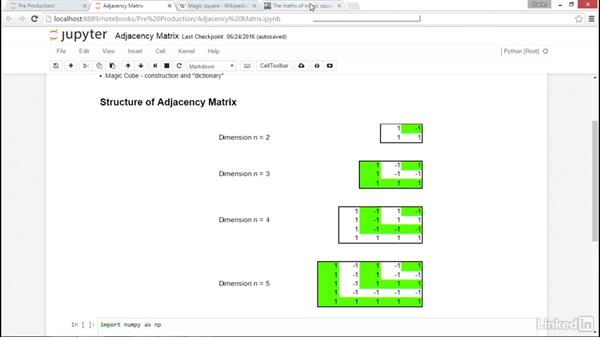 Adjacency matrix: NumPy Data Science Essential Training