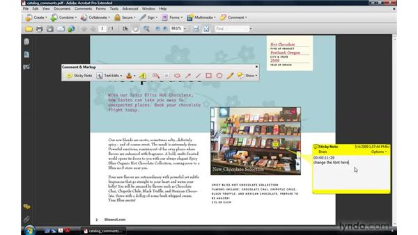 Commenting on video: Acrobat 9 Pro: Creating Multimedia Projects