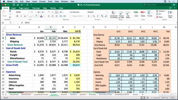 Creating linked worksheet images: Excel for Mac 2016: Advanced Formatting Techniques