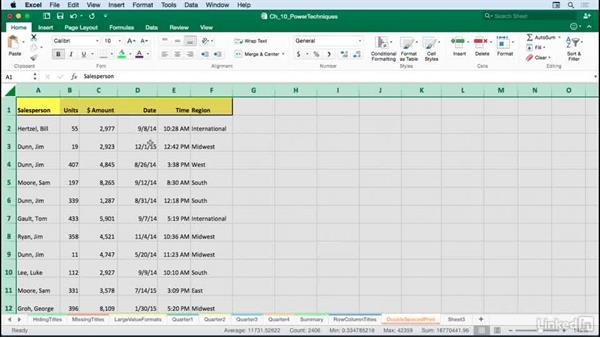 Formatting a list for double-spaced printing: Excel for Mac 2016: Advanced Formatting Techniques