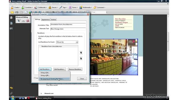Adding alternate renditions (legacy media): Acrobat 9 Pro: Creating Multimedia Projects