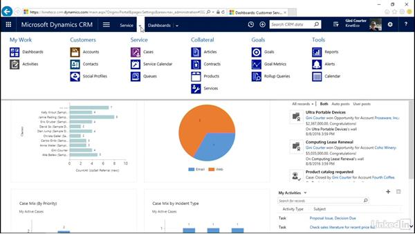 Use the Home page: Microsoft Dynamics CRM Essential Training